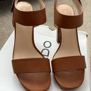 Leather Heeled Strapped Sandals